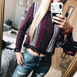 H&M Flare Sleeve Top